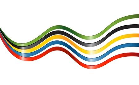 ruban noir: Rubans en couleurs des cinq continents