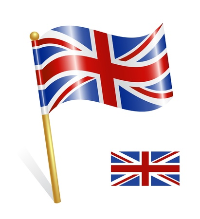english culture: Country UK flag Illustration