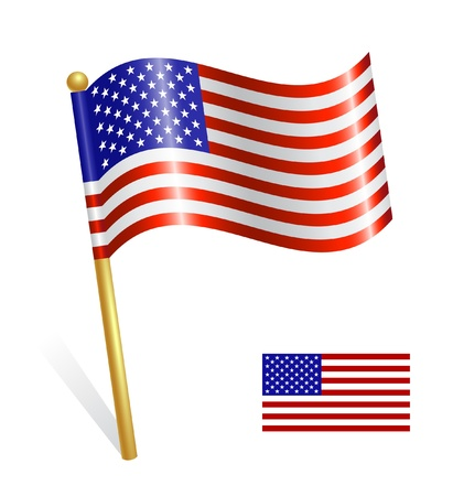 flag pole: USA Country flag