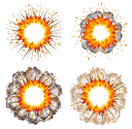 Set of explosions Stock Vector - 13246688
