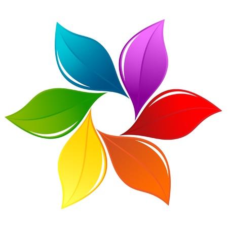 Nature design element in rainbow colors Stock Vector - 13246683