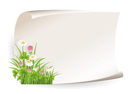 kamille: Papier-Banner mit Blume