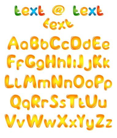 Alphabet letters in sun colors Illustration