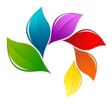 recycling symbol: Nature design element in rainbow colors