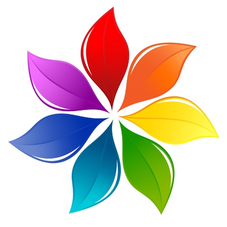 Nature design element in rainbow colors Vector