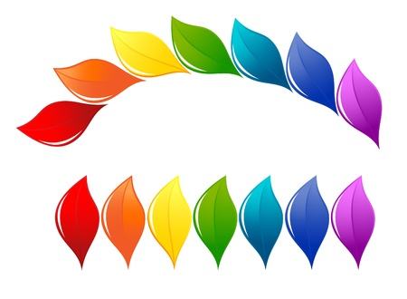 Nature design element in rainbow colors Stock Vector - 13596794