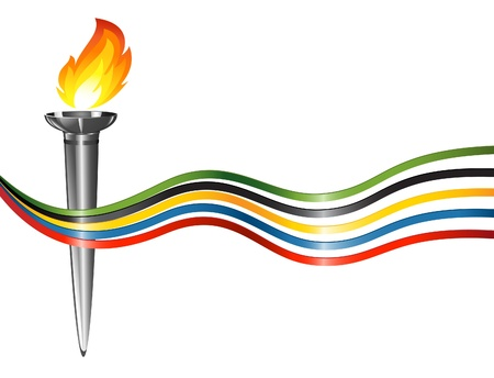 emulation: Torch with the colors of the five continents