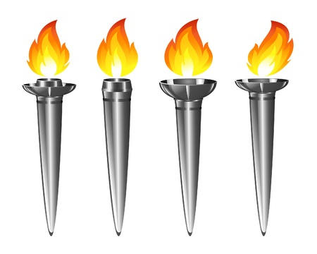 Set of torches Vector