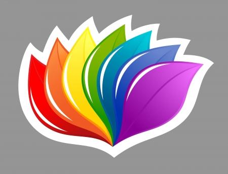 Nature design element in rainbow colors Stock Vector - 13845623