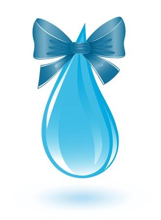 ciclo del agua: Gota de agua con la cinta