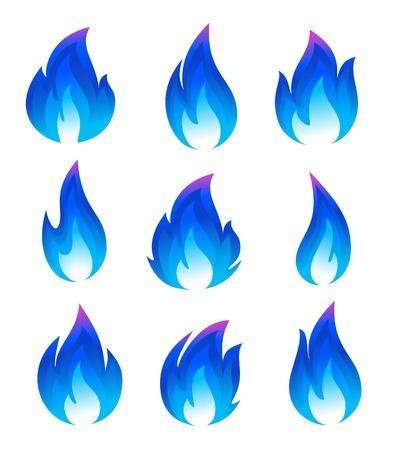 fuego azul: Colecci�n de iconos de fuego azul