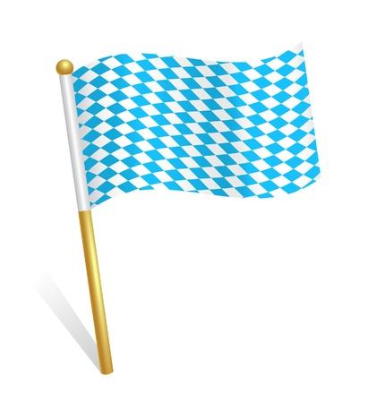 Bavaria flag icon Vector