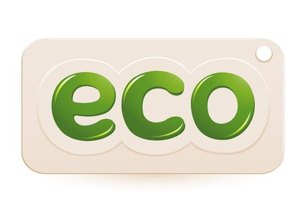 Label eco sign Vector