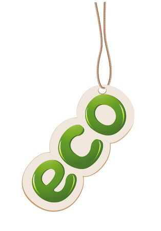 Label with cord eco sign Vector