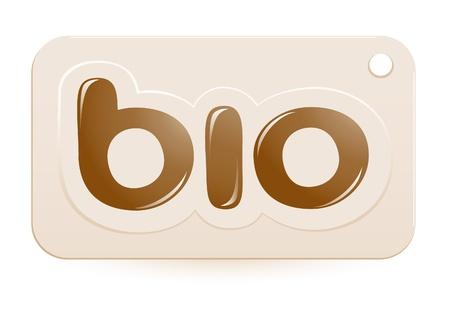 Label bio sign Vector