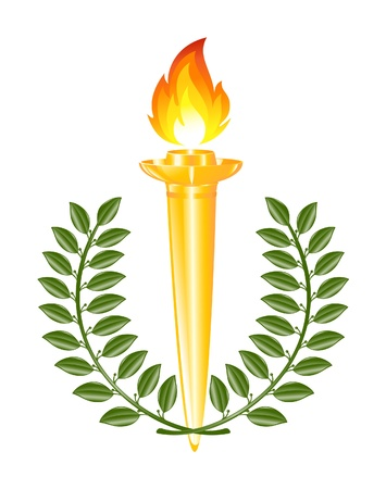 emulation: Torch with laurel wreath Illustration