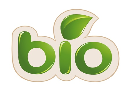 Bio sign with leafs Vector