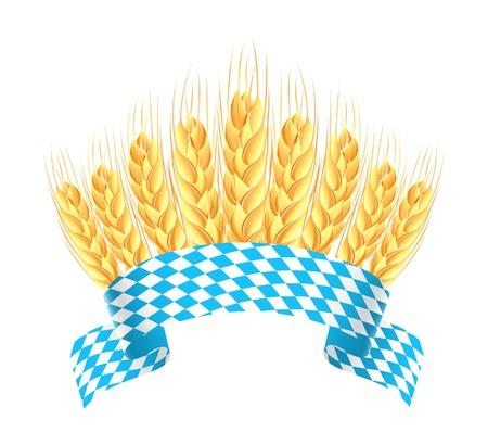 bavaria: Bavaria banner with wheat ears Illustration