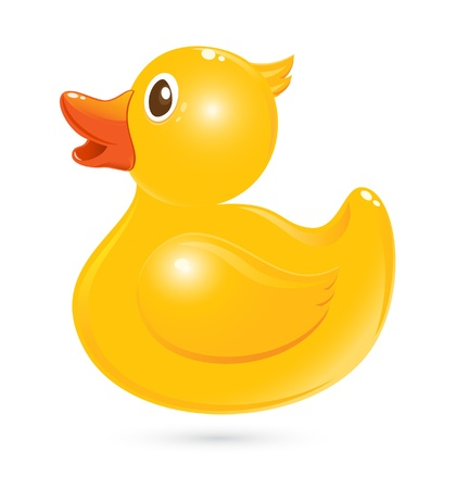 Classical rubber duck Illustration