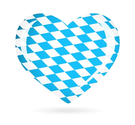 Bavaria flag as Heart icon Vector