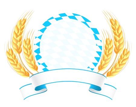 Banner Bawaria uszy pszenicy