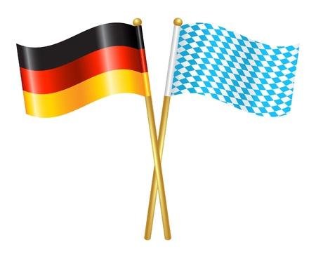 bavaria: Germany and Bavaria flags icon