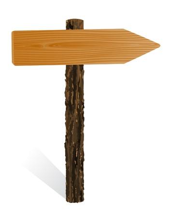 textur: Blank wooden pointer, sign board