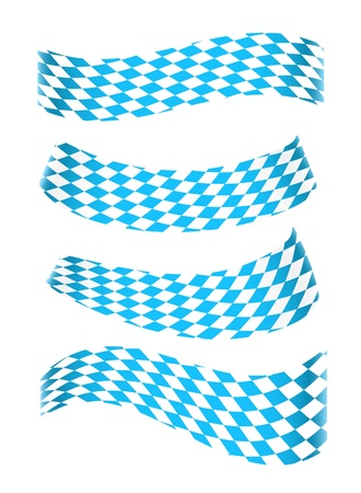 flag pole: Set of banners in bavarian colors