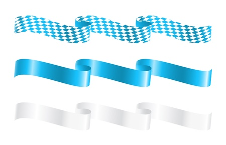 Ribbons in bavarian colors Vector