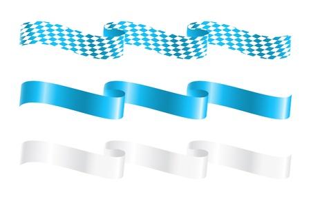 Wstążki w kolorach Bawarskie