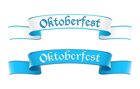 banner effect: Oktoberfest banners in bavarian colors