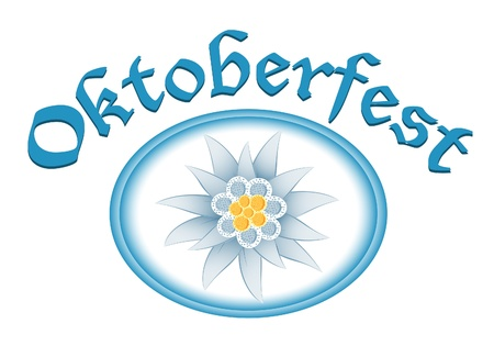 Oktoberfest celebration design with edelweiss Stock Vector - 14584821