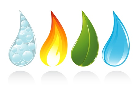 The four elements of life Vector