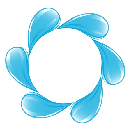 Clear water drops icon