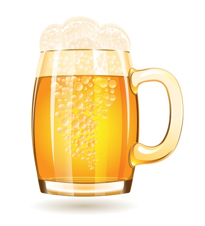 Mug of beer isolated on a white background Vector