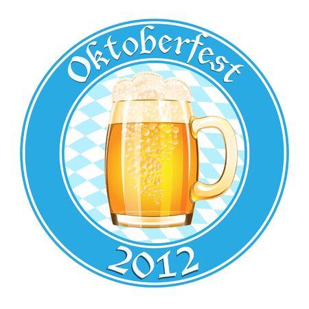 Oktoberfest banner with beer mug Vector