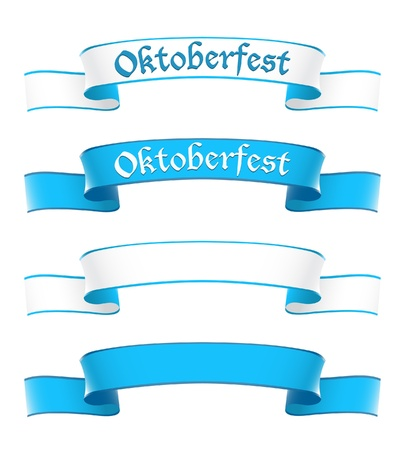 octoberfest: Oktoberfest banners in bavarian colors