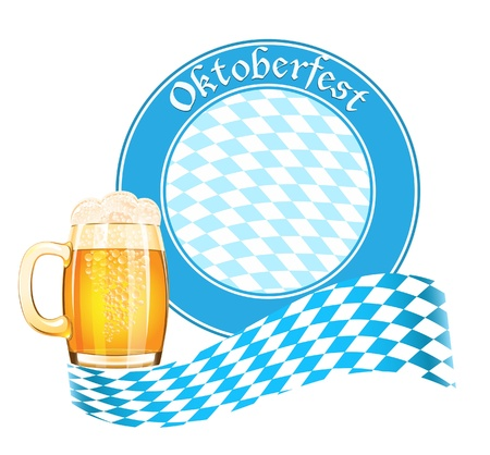 Oktoberfest banner with beer mug Stock Vector - 14794275