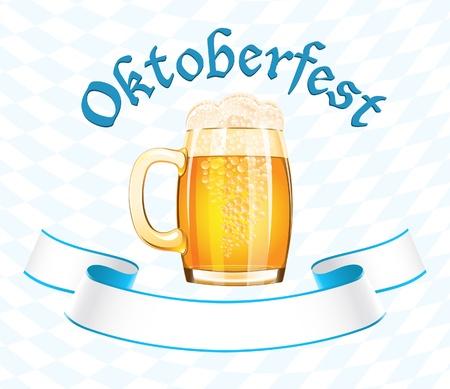 Oktoberfest baner z kufel piwa