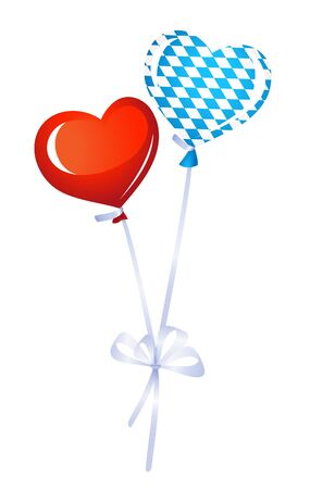 Two heart balloons. One in bavarian colors Stock Vector - 14846784