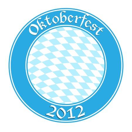 Oktoberfest round banner Vector