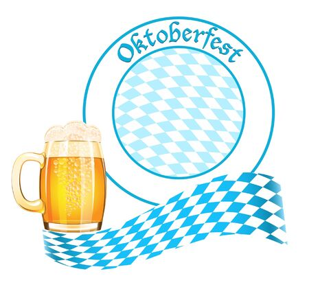 Oktoberfest banner with beer mug Vector