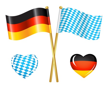 Germany and Bavaria flags icons Stock Vector - 14882830
