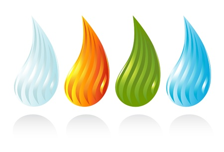 The four elements of life Stock Vector - 14882837