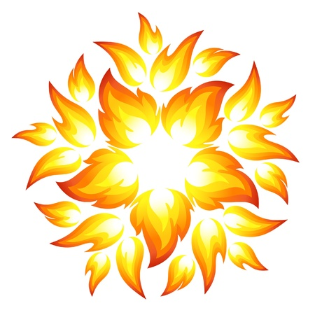 Fire flower Stock Vector - 15215177