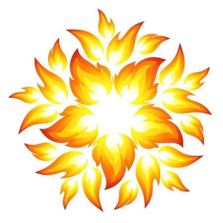 Fire flower Stock Vector - 15215177