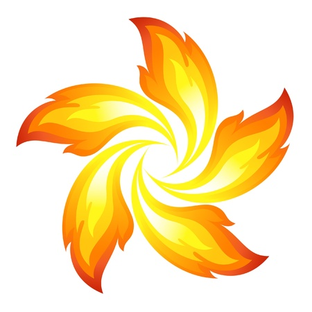 Fire flower Illustration