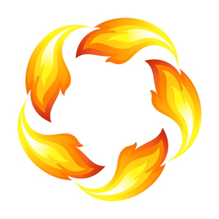 Fire flower Vector