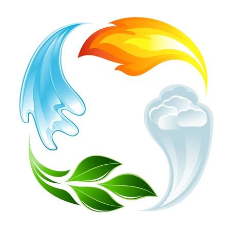 příroda: Čtyři prvky života Ilustrace