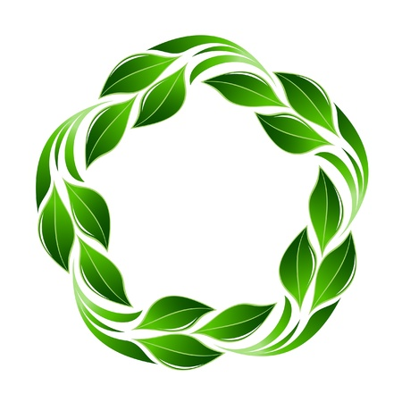 Green leaf flower Vector